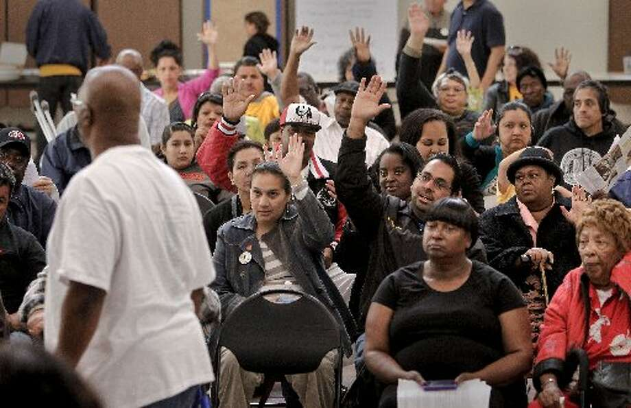 Almost every RIchmond resident at a community meeting raised their hand to indicate their homes were underwater.