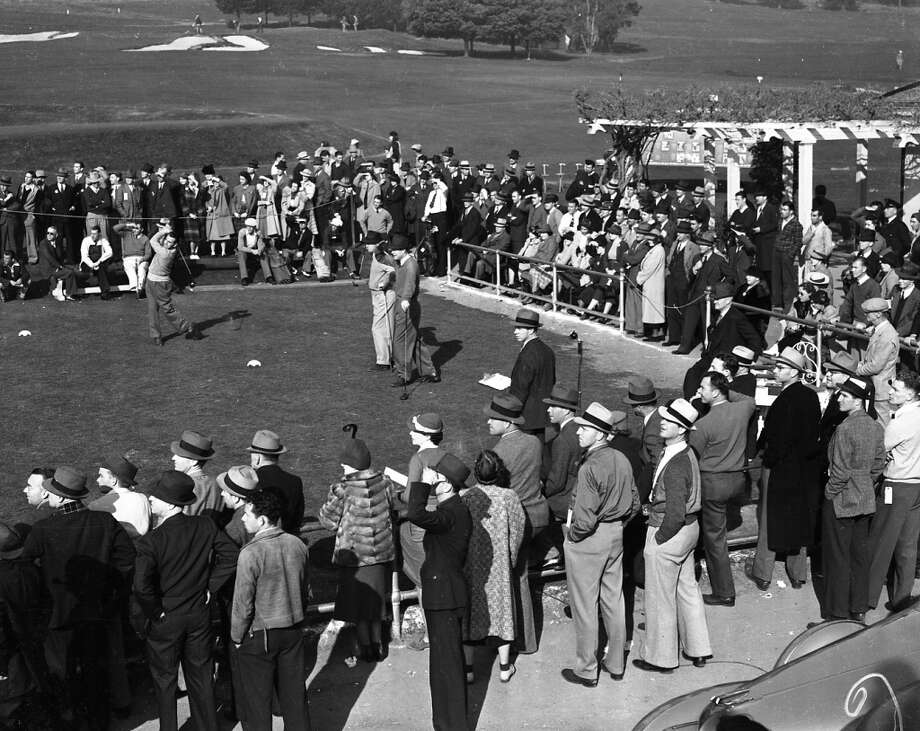 Photo from a tournament at the Sequoyah Country Club in Oakland, Calif. in January - year unknown -from the Chronicle archives.