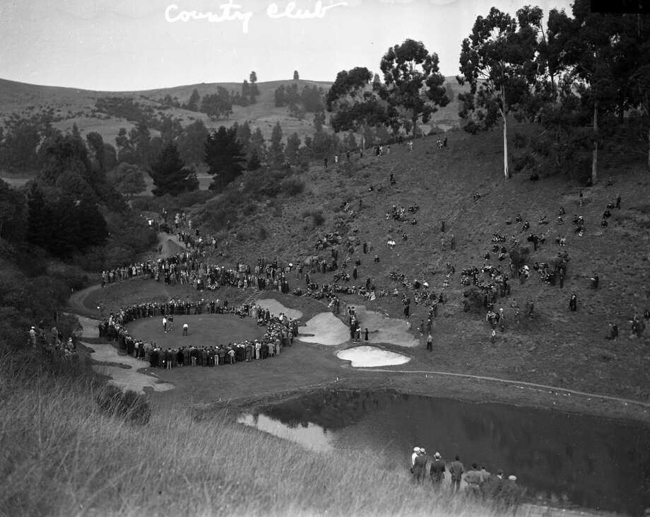 Chronicle archive photo from a tournament at the Sequoyah Country Club in Oakland, Calif. in January - year unknown.