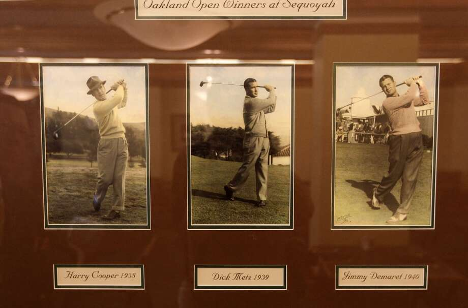 Past Oakland Open winners, photographed by J.D. Mills, on displayed in the clubhouse of the Sequoyah Country Club, on Wed. June 12, 2013 in Oakland, Calif. Sequoyah Country Club high in the Oakland hills is celebrating its one hundred year anniversary. The club founded in 1913 was the site of the old western open golf tournament.