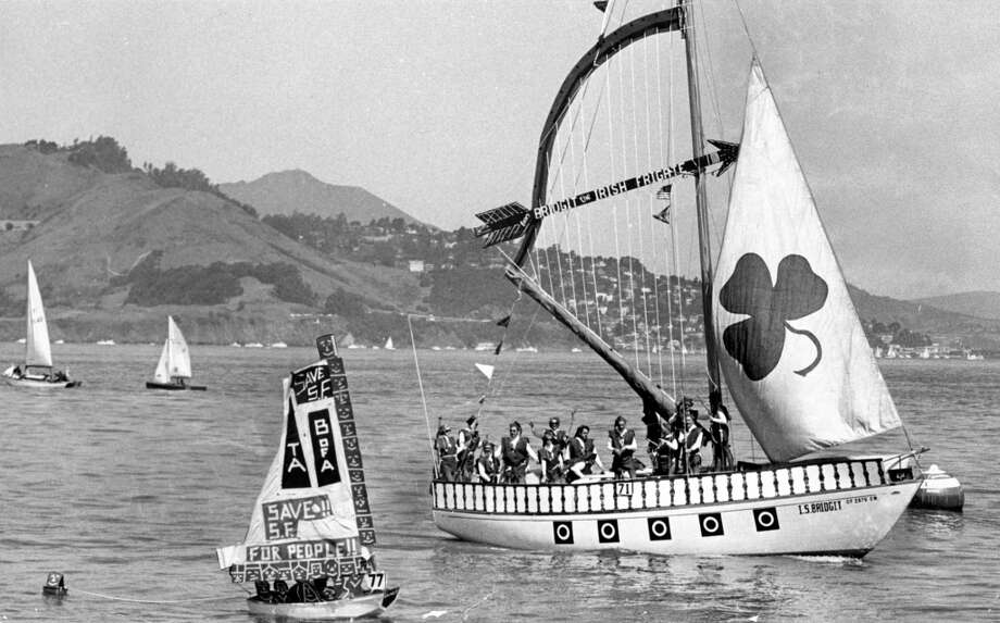 """More boats show off their unique decorations during the """"Opening Day on the Bay"""" parade in the '60s. The 96th annual boat parade was held this past April 2013."""
