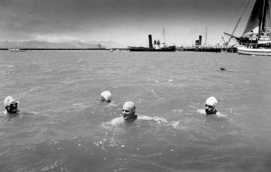 Golden Gate Bridge Open Water Swim. September 21, 1986.