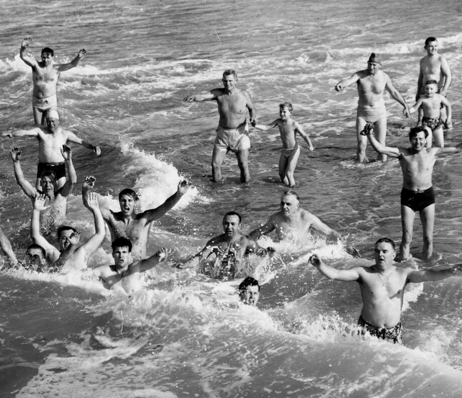 Dolphin Club Annual Ocean Dunk. December 17, 1950.