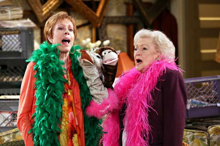 "S.A. native Carol Burnett and Betty White in an episode of ""Hot in Cleveland."""
