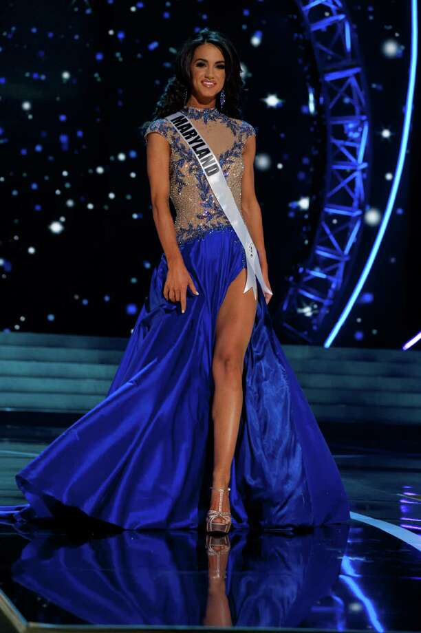 This photo provided by the Miss Universe Organization, Miss Maryland USA 2013, Kasey Staniszewski competes in her evening gown during the 2013 Miss USA Competition Preliminary Show  in Las Vegas  on Wednesday June 12, 2013.  She will compete for the title of Miss USA 2013 and the coveted Miss USA Diamond Nexus Crown on June 16, 2013. Photo: AP