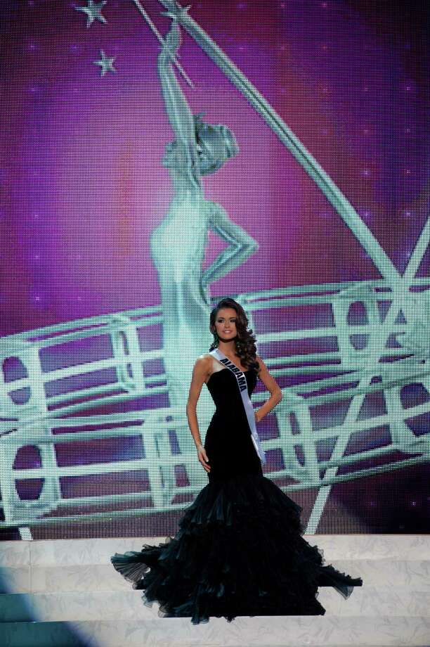 This photo provided by the Miss Universe Organization, Miss Alabama USA 2013, Mary Margaret McCord competes in her evening gown during the 2013 Miss USA Competition Preliminary Show  in Las Vegas  on Wednesday June 12, 2013.  She will compete for the title of Miss USA 2013 and the coveted Miss USA Diamond Nexus Crown on June 16, 2013. Photo: AP