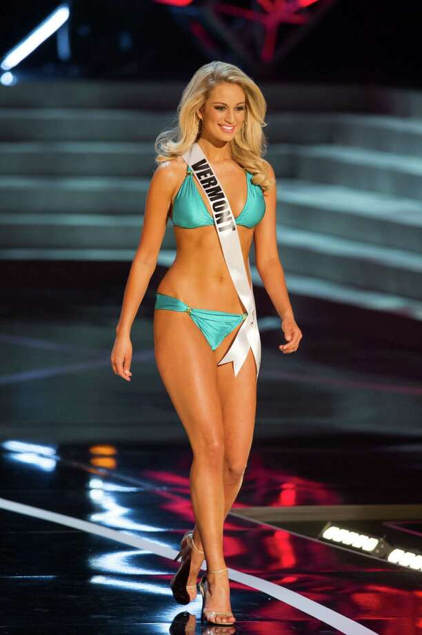 In this photo provided by the Miss Universe Organization,  Miss Vermont USA 2013, Sarah Westbrook,  competes in her swimsuit during the  2013 Miss USA Competition Preliminary Show in Las Vegas on Wednesday June 12, 2013.   She will compete for the title of Miss USA 2013 and the coveted Miss USA Diamond Nexus Crown on June 16, 2013. Photo: AP