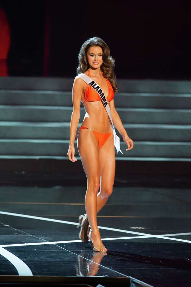 In this photo provided by the Miss Universe Organization,  Miss Alabama USA 2013, Mary Margaret McCord,  competes in her swimsuit during the  2013 Miss USA Competition Preliminary Show in Las Vegas on Wednesday June 12, 2013.   She will compete for the title of Miss USA 2013 and the coveted Miss USA Diamond Nexus Crown on June 16, 2013. Photo: AP