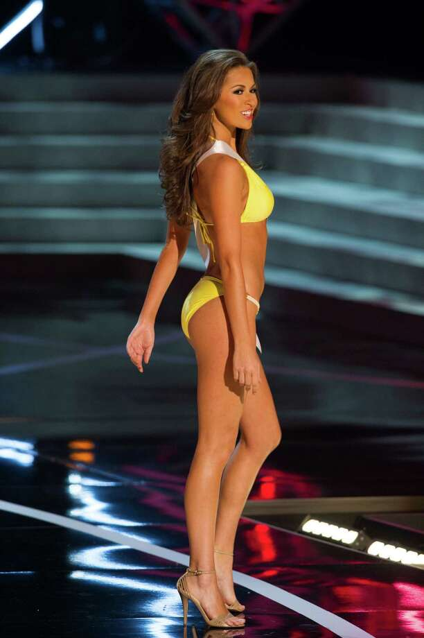 In this photo provided by the Miss Universe Organization,  Miss Louisiana USA 2013, Kristen Girault,  competes in her swimsuit during the  2013 Miss USA Competition Preliminary Show in Las Vegas on Wednesday June 12, 2013.   She will compete for the title of Miss USA 2013 and the coveted Miss USA Diamond Nexus Crown on June 16, 2013. Photo: AP