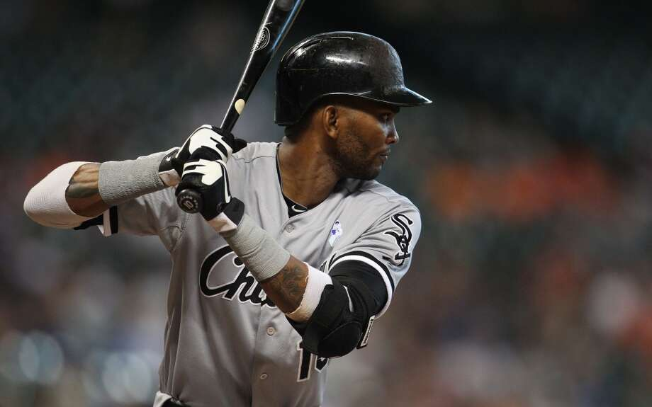 Alexei Ramirez of the White Sox prepares for an at-bat against the Astros.