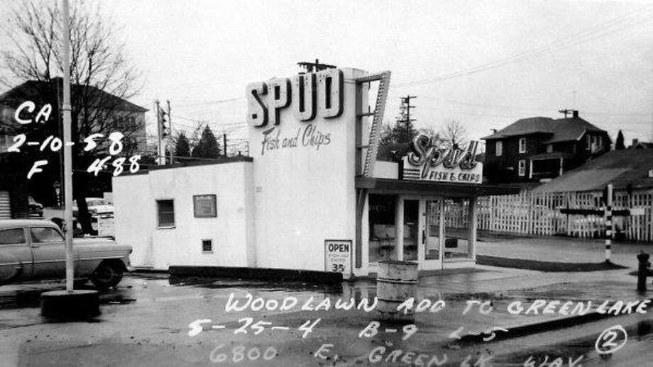 Spud Fish and Chips in Green Lake, 1958.