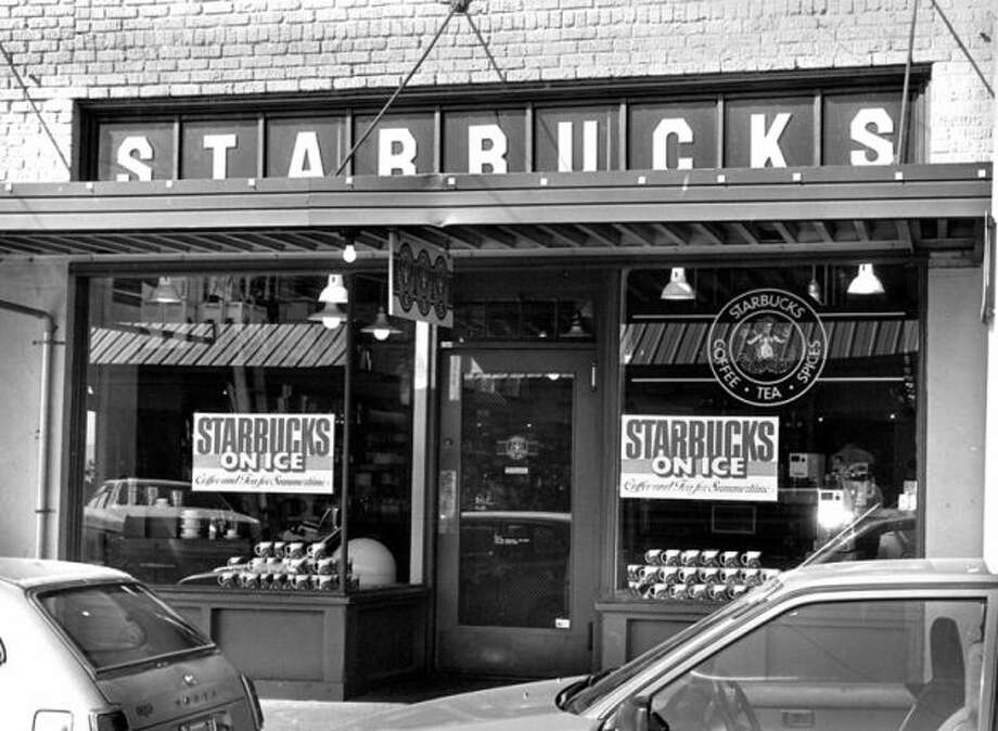Here's the storefront for the previous photo.   It's the world's oldest Starbucks, opened in 1976 in Pike Place Market. But it's not exactly the coffee company's first store, even though everyone calls it the ''original Starbucks.''   The first store opened in 1971 on Western Ave., before moving in 1976 to its current location.