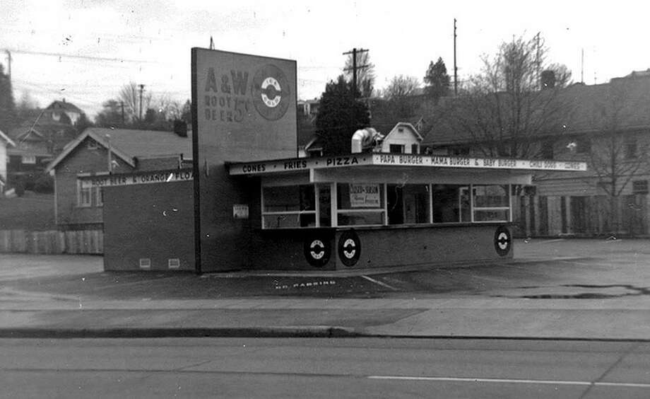 Who remembers papa, mama and baby burgers?   They were a popular feature at A&W, the root beer chain that once had a store at 5700 Empire Way. (Now MLK Way). Photo is from 1960.