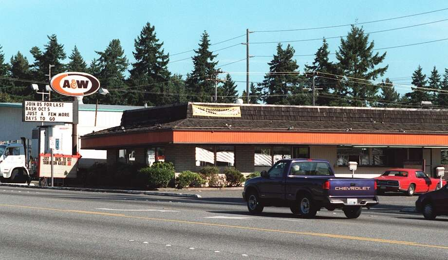 Here's another A&W in Seattle, before it closed in 1996. It had been on Aurora Avenue North for 35 years.