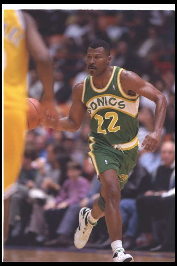Big Paper Daddy  Ricky Pierce -- SuperSonics (1990-94)  Photo: J.D. Cuban, Getty Images / Getty Images North America