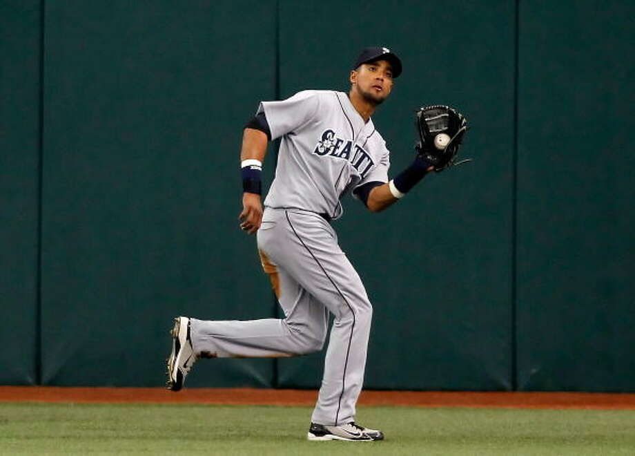 Death to Flying ThingsFranklin Gutierrez-- Mariners (2009-present)  Photo: J. Meric, Getty Images / 2010 Getty Images