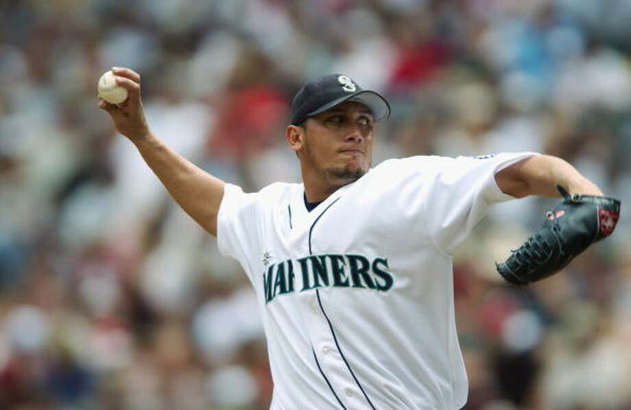 The ChiefFreddy Garcia-- Mariners (1999-2004)  Photo: Otto Greule Jr, Getty Images / 2003 Getty Images