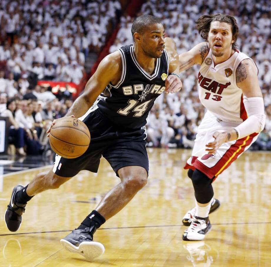 GARY NEALPosition:Guard  2012-23: 9.5 ppg, 35.5 3-pt percentage  Status: Restricted  Rundown: Neal could be regaining all  the leverage he squandered during a sub-par regular season with his  blistering form in the Finals. Considering his third-year slump was  caused in part by injury, Neal should be a strong candidate to return.  PHOTO: Neal drives around the Miami Heat's Mike Miller during second half action in Game 2 of the NBA Finals on June 9, 2013, at American Airlines Arena in Miami, Fla. (Edward A. Ornelas / San Antonio Express-News)