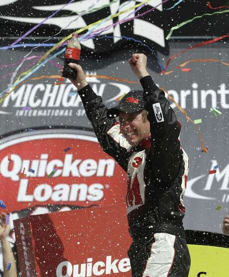 Greg Biffle held off Kevin Harvick to win Sunday. It was Biffle's second consecutive victory at Michigan International Speedway. Photo: Carlos Osorio / Associated Press