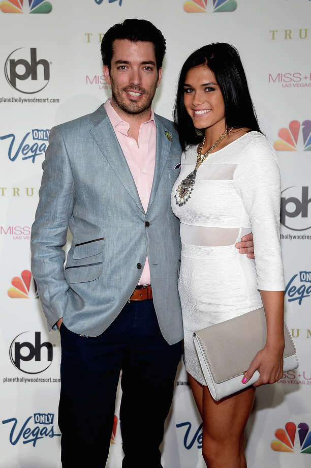 Television personality Jonathon Scott (L) and Audra Mari (R) arrive at the 2013 Miss USA pageant at Planet Hollywood Resort & Casino on June 16, 2013 in Las Vegas, Nevada. Photo: Ethan Miller, Getty Images / 2013 Getty Images