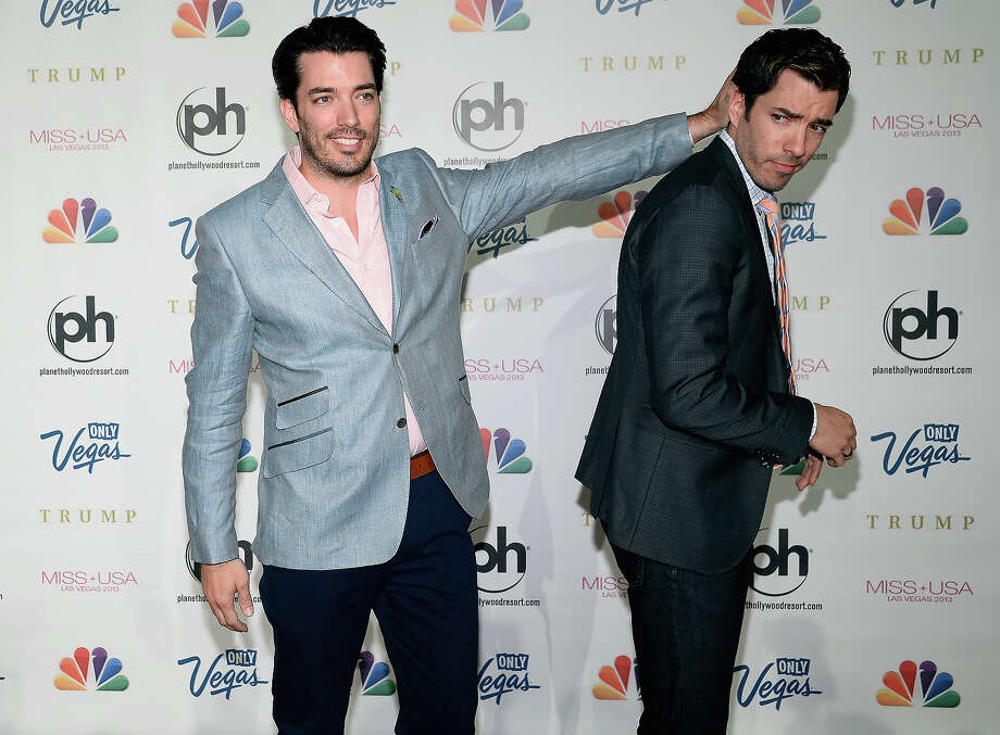 Television personalities Jonathon (L) and Drew Scott arrive at the 2013 Miss USA pageant at Planet Hollywood Resort & Casino on June 16, 2013 in Las Vegas, Nevada. Photo: Ethan Miller, Getty Images / 2013 Getty Images