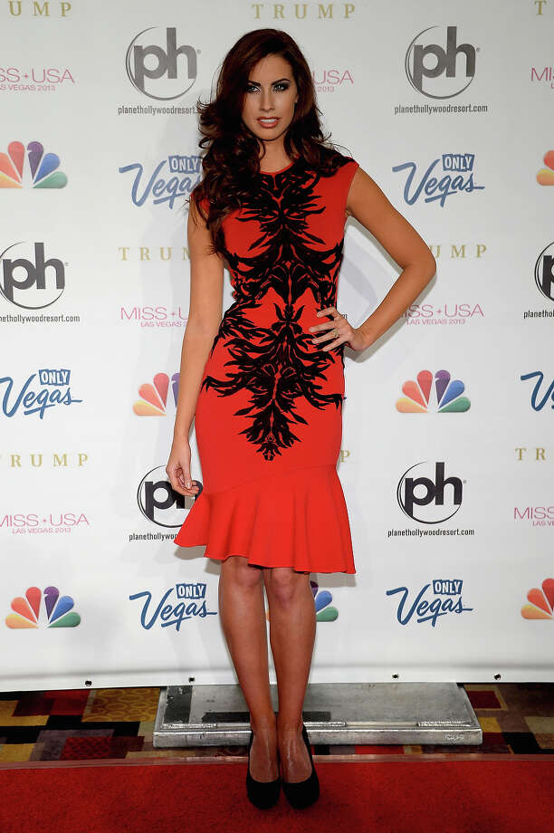 Miss Alabama USA 2011 Katherine Webb arrives at the 2013 Miss USA pageant at Planet Hollywood Resort & Casino on June 16, 2013 in Las Vegas, Nevada. Photo: Ethan Miller, Getty Images / 2013 Getty Images