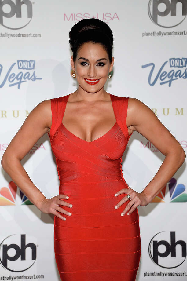 Professional wrestler and pageant judge Nikki Bella arrives at the 2013 Miss USA pageant at Planet Hollywood Resort & Casino on June 16, 2013 in Las Vegas, Nevada. Photo: Ethan Miller, Getty Images / 2013 Getty Images