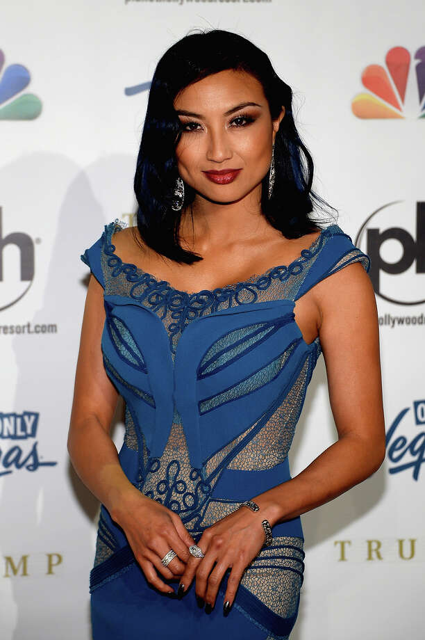 Television personality, fashion expert and pageant commentator Jeannie Mai arrives at the 2013 Miss USA pageant at Planet Hollywood Resort & Casino on June 16, 2013 in Las Vegas, Nevada. Photo: Ethan Miller, Getty Images / 2013 Getty Images