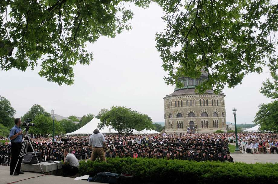 Graduates, their family and friends take part in the Union College Commencement Exercises on Sunday, June 16, 2013 in Schenectady, NY.   (Paul Buckowski / Times Union) Photo: Paul Buckowski
