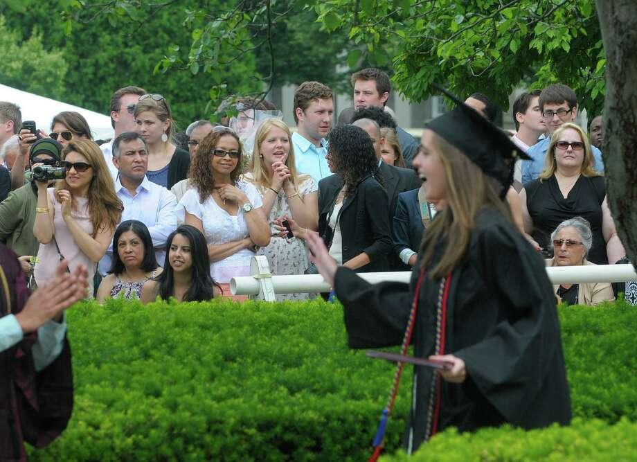 Family and friends watch as graduates receive their degrees at the Union College Commencement Exercises on Sunday, June 16, 2013 in Schenectady, NY.   (Paul Buckowski / Times Union) Photo: Paul Buckowski