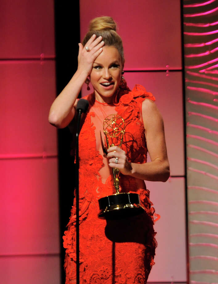 "Julie Marie Berman accepts the award for outstanding supporting actress in a drama series for ""General Hospital"" at the 40th Annual Daytime Emmy Awards on Sunday, June 16, 2013, in Beverly Hills, Calif. (Photo by Chris Pizzello/Invision/AP) Photo: Chris Pizzello"