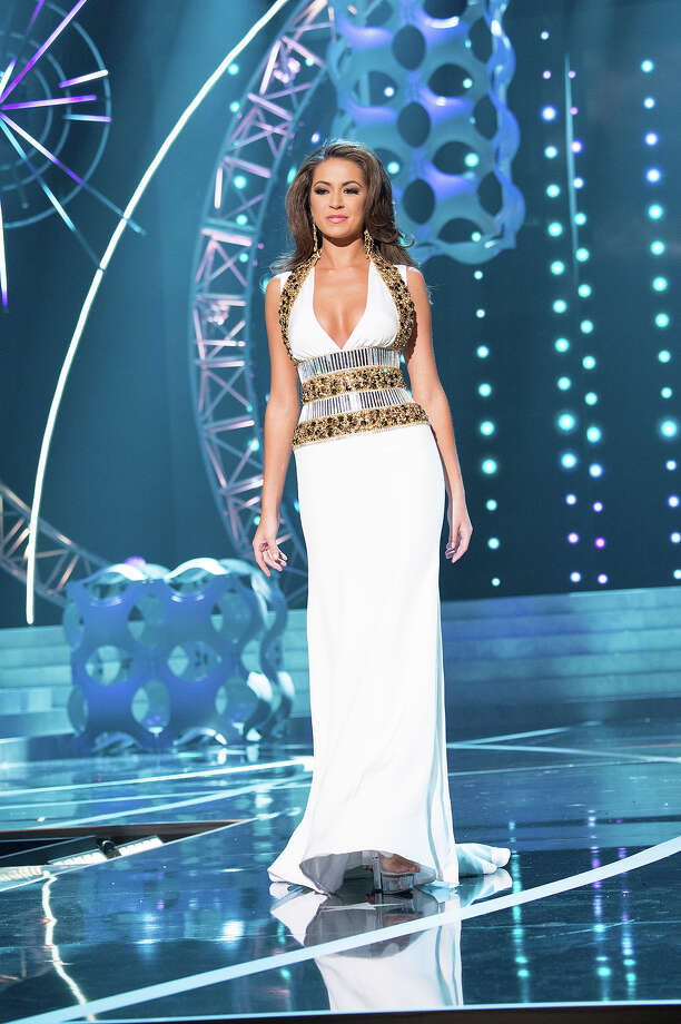 Miss Louisiana USA 2013, Kristen Girault, competes in her evening gown during the 2013 MISS USA Competition at PH Live in Las Vegas, Nevada on Sunday June 16, 2013. Photo: Patrick Prather, Miss Universe Organization / Miss Universe Organization L.P., LLLP.