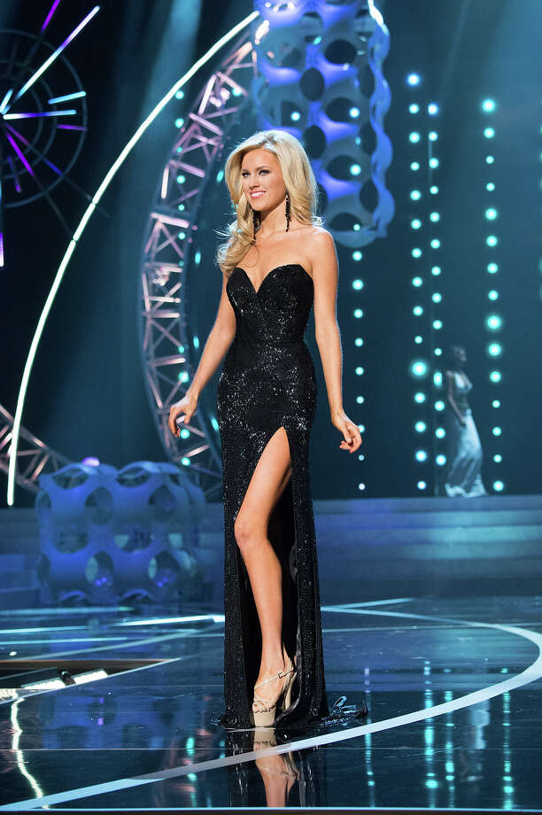 Miss Nevada USA 2013, Chelsea Caswell, competes in her evening gown during the 2013 MISS USA Competition at PH Live in Las Vegas, Nevada on Sunday June 16, 2013. Photo: Patrick Prather, Miss Universe Organization / Miss Universe Organization L.P., LLLP.