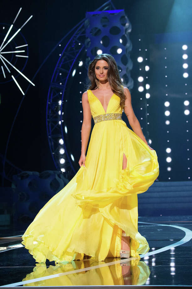 Miss Ohio USA 2013, Kristin Smith, competes in her evening gown during the 2013 MISS USA Competition at PH Live in Las Vegas, Nevada on Sunday June 16, 2013. Photo: Patrick Prather, Miss Universe Organization / Miss Universe Organization L.P., LLLP.