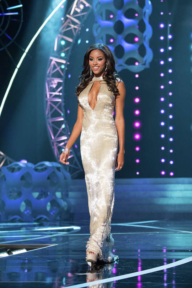 Miss South Carolina USA 2013, Megan Pinckney, competes in her evening gown during the 2013 MISS USA Competition at PH Live in Las Vegas, Nevada on Sunday June 16, 2013. Photo: Patrick Prather, Miss Universe Organization / Miss Universe Organization L.P., LLLP.