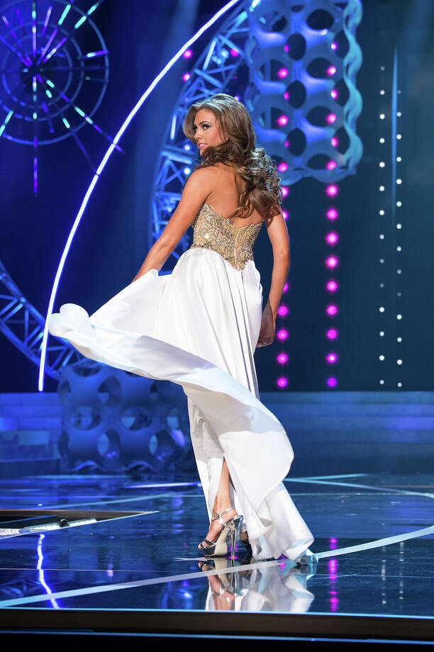Miss Connecticut USA 2013, Erin Brady, competes in her evening gown during the 2013 MISS USA Competition at PH Live in Las Vegas, Nevada on Sunday June 16, 2013.  She was competing for the title of Miss USA 2013, the coveted Miss USA Diamond Nexus Crown, and the chance to represent the USA at the 2013 MISS UNIVERSE Competition in November.