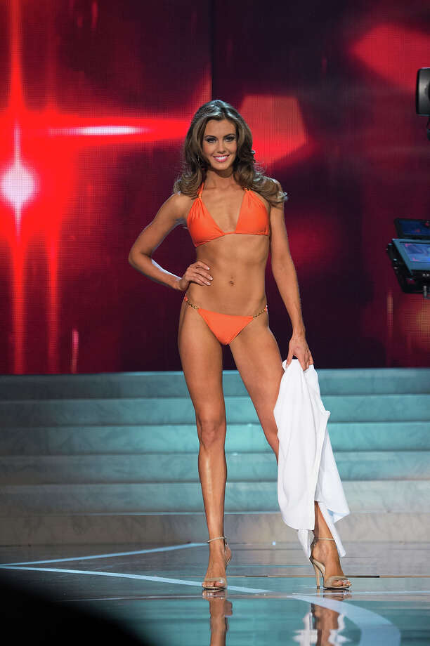 Miss Connecticut USA 2013, Erin Brady, competes in her ViX Paula Hermanny swimsuit during the 2013 MISS USA Competition at PH Live in Las Vegas, Nevada on Sunday June 16, 2013. Photo: Richard Harbaugh, Miss Universe Organization / Miss Universe Organization L.P., LLLP.