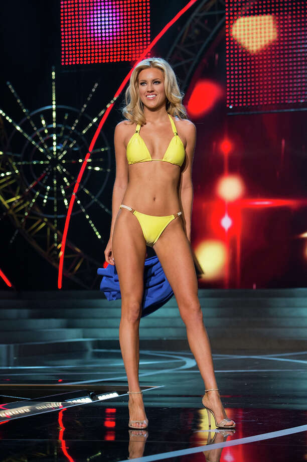 Miss Nevada USA 2013, Chelsea Caswell, competes in her ViX Paula Hermanny swimsuit during the 2013 MISS USA Competition at PH Live in Las Vegas, Nevada on Sunday June 16, 2013. Photo: Richard Harbaugh, Miss Universe Organization / Miss Universe Organization L.P., LLLP.