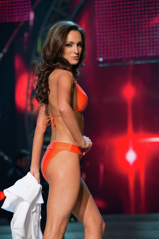 Miss Illinois USA 2013, Stacie Juris, competes in her ViX Paula Hermanny swimsuit during the 2013 MISS USA Competition at PH Live in Las Vegas, Nevada on Sunday June 16, 2013. Photo: Richard Harbaugh, Miss Universe Organization / Miss Universe Organization L.P., LLLP.