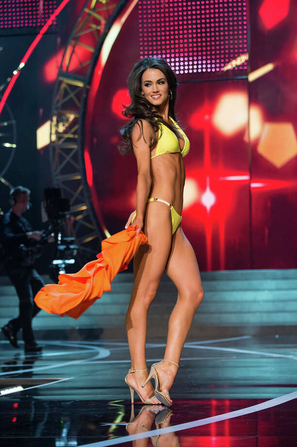 Miss Maryland USA 2013, Kasey Staniszewski, competes in her ViX Paula Hermanny swimsuit during the 2013 MISS USA Competition at PH Live in Las Vegas, Nevada on Sunday June 16, 2013. Photo: Richard Harbaugh, Miss Universe Organization / Miss Universe Organization L.P., LLLP.