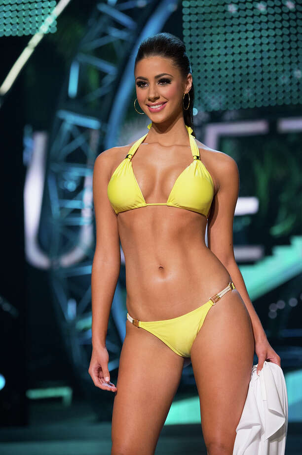 Miss Massachusetts USA 2013, Sarah Kidd, competes in her ViX Paula Hermanny swimsuit during the 2013 MISS USA Competition at PH Live in Las Vegas, Nevada on Sunday June 16, 2013. Photo: Richard Harbaugh, Miss Universe Organization / Miss Universe Organization L.P., LLLP.