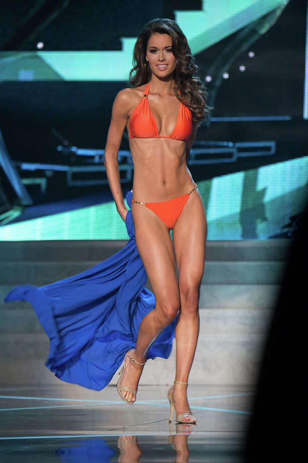 Miss Alabama USA 2013, Mary Margaret McCord, competes in her ViX Paula Hermanny swimsuit during the 2013 MISS USA Competition at PH Live in Las Vegas, Nevada on Sunday June 16, 2013.  Photo: Richard Harbaugh, Miss Universe Organization / Miss Universe Organization L.P., LLLP.