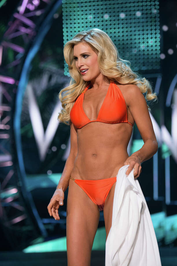 Miss Pennsylvania USA 2013, Jessica Billings, competes in her ViX Paula Hermanny swimsuit during the 2013 MISS USA Competition at PH Live in Las Vegas, Nevada on Sunday June 16, 2013. Photo: Richard Harbaugh, Miss Universe Organization / Miss Universe Organization L.P., LLLP.