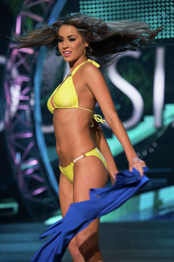 Miss Louisiana USA 2013, Kristen Girault, competes in her ViX Paula Hermanny swimsuit during the 2013 MISS USA Competition at PH Live in Las Vegas, Nevada on Sunday June 16, 2013. Photo: Richard Harbaugh, Miss Universe Organization / Miss Universe Organization L.P., LLLP.