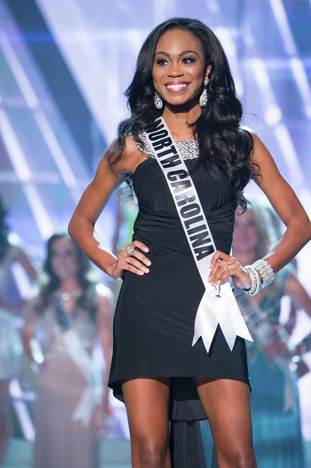 Miss North Carolina USA 2013, Ashley Love-Mills, is announced as one of the 15 finalists for Miss USA 2013 during the 2013 MISS USA Competition at PH Live in Las Vegas, Nevada on Sunday June 16, 2013. Photo: Richard Harbaugh, Miss Universe Organization / Miss Universe Organization L.P., LLLP.