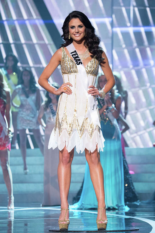 Miss Texas USA 2013, Ali Nugent, is announced as one of the 15 finalists for Miss USA 2013 during the 2013 MISS USA Competition at PH Live in Las Vegas, Nevada on Sunday June 16, 2013. Photo: Richard Harbaugh, Miss Universe Organization / Miss Universe Organization L.P., LLLP.