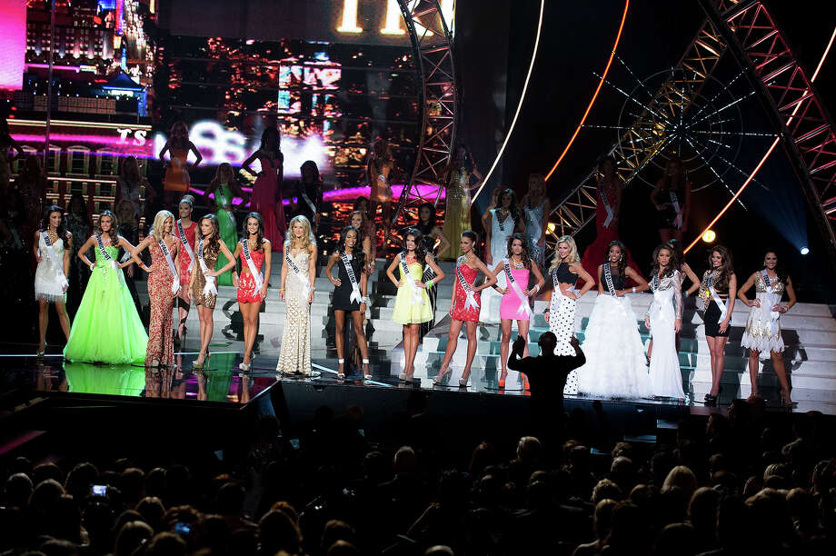 Miss Utah USA 2013, Marissa Powell; Miss Connecticut USA 2013, Erin Brady; Miss Nevada USA 2013, Chelsea Caswell; Miss Illinois USA 2013, Stacie Juris; Miss Maryland USA 2013, Kasey Staniszewski; Miss West Virginia USA 2013, Chelsea Welch; Miss North Carolina USA 2013, Ashley Love-Mills; Miss California USA 2013, Mabelynn Capeluj; Miss Massachusetts USA 2013, Sarah Kidd; Miss Alabama USA 2013, Mary Margaret McCord; Miss Pennsylvania USA 2013, Jessica Billings; Miss South Carolina USA 2013, Megan Pinckney; Miss Louisiana USA 2013, Kristen Girault; Miss Ohio USA 2013, Kristin Smith; and Miss Texas USA 2013, Ali Nugent; are announced as the 15 finalists for Miss USA 2013 during the 2013 MISS USA Competition at PH Live in Las Vegas, Nevada on Sunday June 16, 2013.  They is competing for the title of Miss USA 2013, the coveted Miss USA Diamond Nexus Crown, and the chance to represent the USA at the 2013 MISS UNIVERSE Competition in November. Photo: Patrick Prather, Miss Universe Organization / Miss Universe Organization L.P., LLLP.