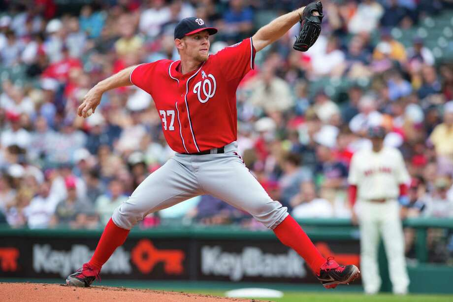 CLEVELAND, OH - JUNE 16: Staring pitcher Stephen Strasburg #37 of the Washington Nationals pitches during the second inning against the Cleveland Indians at Progressive Field on June 16, 2013 in Cleveland, Ohio. (Photo by Jason Miller/Getty Images) Photo: Jason Miller