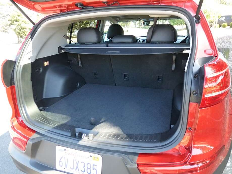 There are 54 cubic feet of cargo space with the second-row seats folded down.