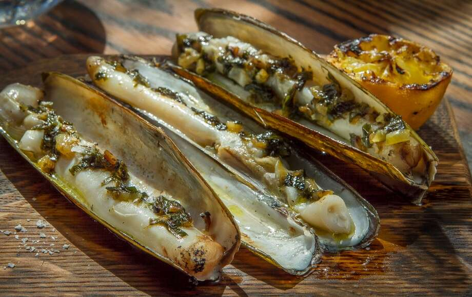 The Grilled Razor Clams at Coqueta.